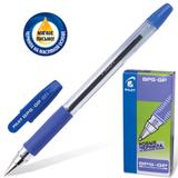 Ручка шариковая масляная PILOT BPS-GP-EF, корпус синий, с резиновым упором, 0,25 мм, синяя