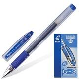 Ручка гелевая PILOT BLN-G3-38 «G-1», корпус прозрачный, с резиновым упором, толщина письма 0,2 мм, синяя