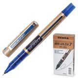 Ручка-роллер ZEBRA «Zeb-Roller DX7», корпус золотистый, толщина письма 0,7 мм, синяя