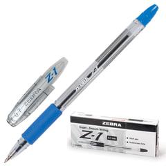 Ручка шариковая ZEBRA «Z-1», корпус прозрачный, узел 0,7 мм, линия 0,5 мм, резиновый упор, синяя