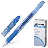 Ручка гелевая ZEBRA «JIMNIE HYPER JELL», корпус прозрачный, толщина письма 0,7 мм, рез. держ., синяя