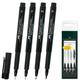 Ручки капиллярные FABER-CASTELL, набор 4 шт., «Pitt», художественные, 4 ширины линии, черные