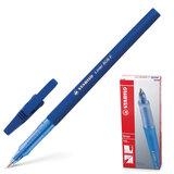 Ручка шариковая STABILO «Liner», корпус синий, толщина письма 0,3 мм, синяя