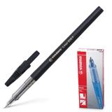 Ручка шариковая STABILO «Liner», корпус черный, толщина письма 0,3 мм, черная