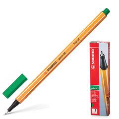 Ручка капиллярная STABILO «Point», корпус оранжевый, толщина письма 0,4 мм, зеленая