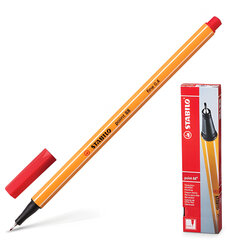 Ручка капиллярная STABILO «Point», корпус оранжевый, толщина письма 0,4 мм, красная