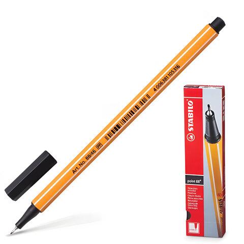 """Ручка капиллярная STABILO """"Point"""", корпус оранжевый, толщина письма 0,4 мм, черная"""