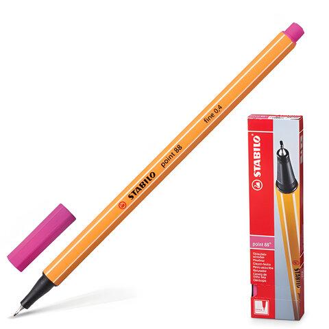"Ручка капиллярная STABILO ""Point"", толщина письма 0,4 мм, розовая"