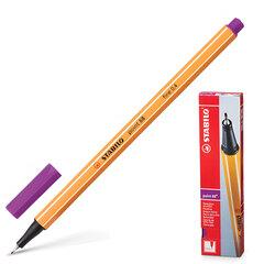 Ручка капиллярная STABILO «Point», корпус оранжевый, толщина письма 0,4 мм, сиреневая