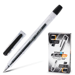 Ручка гелевая PENSAN «My-King», корпус прозрачный, игольчатый узел 0,5 мм, линия 0,3 мм, черная
