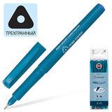 Ручки капиллярные KOH-I-NOOR, набор 4 шт., трехгранная, 0,5 мм, европодвес, синяя, черная, красная, зеленая