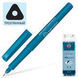 Ручки капиллярные KOH-I-NOOR, набор 4 шт., трехгранная, 0,3 мм, европодвес, синяя, черная, красная, зеленая