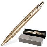 Ручка шариковая PARKER «IM Brushed Metal Gold GT», корпус латунь, позолоченные детали