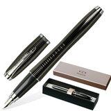 Ручка перьевая PARKER «Urban Premium Ebony Metal Chiselled», корпус черный, латунь, хромированные детали, S0911480