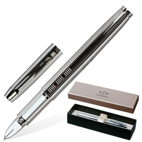 Ручка PARKER «5-й пишущий узел» «IM Premium Shiny Chrome Chiselled», корпус латунь, хромированные детали