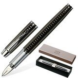Ручка PARKER «5-й пишущий узел» «IM Premium Deep Gun Metal Chiselled», корпус латунь, хромированные детали, S0976110
