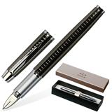 Ручка PARKER «5-й пишущий узел» «IM Premium Deep Gun Metal Chiselled», корпус латунь, хромированные детали
