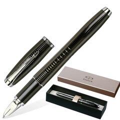 """Ручка PARKER «5-й пишущий узел"""" """"Urban Premium Chiselled», корпус черный, латунь, хромированные детали, черная, S0976050"""
