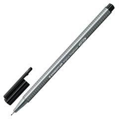 Ручка капиллярная STAEDTLER (Германия), трехгранная, толщина письма 0,3 мм, черная