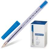 Ручка шариковая STAEDTLER (ШТЕДЛЕР, Германия) «Stick document», корпус прозрачный, толщина письма 0,5 мм, синяя