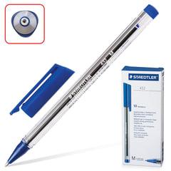 Ручка шариковая STAEDTLER «Ball», трехгранная, корпус прозрачный, узел 1 мм, линия 0,5 мм, синяя