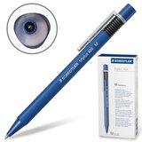 Ручка шариковая STAEDTLER (ШТЕДЛЕР, Германия) автоматическая «Triplus», трехгранная, нескользящий корпус, 0,5 мм, синяя