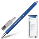 Ручка шариковая STAEDTLER (ШТЕДЛЕР, Германия) «Triplus ball», трехгранная, прорезиненный корпус, 0,45 мм, синяя