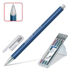 Ручки шариковые STAEDTLER, набор 4 шт., «Triplus Ball», узел 1 мм, линия 0,45 мм, (синяя, черная, красная, зеленая)