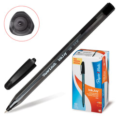 Ручка шариковая PAPER MATE «Inkjoy 100», корпус тонированный черный, узел 0,7 мм, линия 0,5 мм, черная