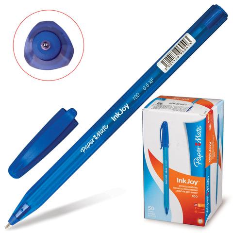 Ручка шариковая PAPER MATE «InkJoy 100 Cap», корпус синий, толщина письма 0,5 мм, синяя