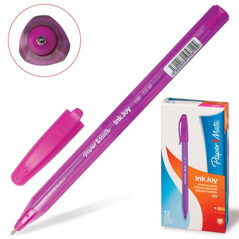 Ручка шариковая PAPER MATE «InkJoy 100 Cap», корпус розовый, толщина письма 1 мм, розовая