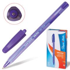 Ручка шариковая PAPER MATE «Inkjoy 100», корпус тонированный фиолетовый, узел 1,2 мм, линия 1 мм, фиолетовая