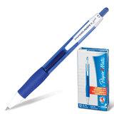 Ручка гелевая PAPER MATE автоматическая «PM Gel», корпус синий с белым, толщина письма 0,7 мм, синяя