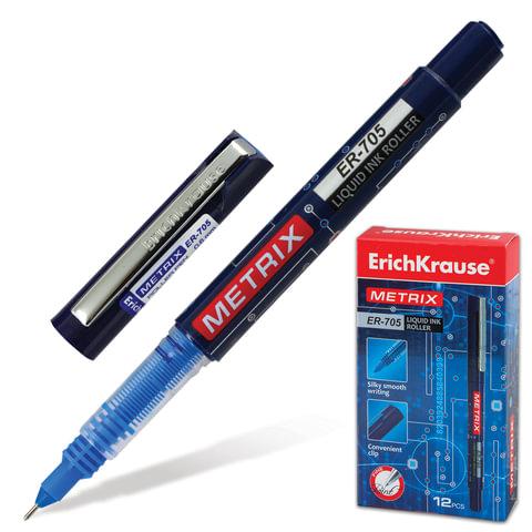 Ручка-роллер ERICH KRAUSE «Metrix ER-705», корпус синий, толщина письма 0,6 мм, синяя