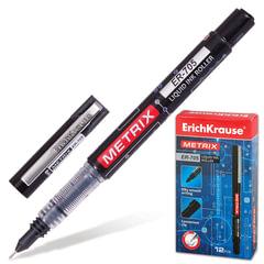 Ручка-роллер ERICH KRAUSE «Metrix ER-705», корпус черный, игольчатый узел 0,6 мм, линия 0,45 мм, черная