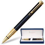 Ручка шариковая WATERMAN Perspective Black GT, латунь, корпус черный, позолоченные детали, S0830900, синяя