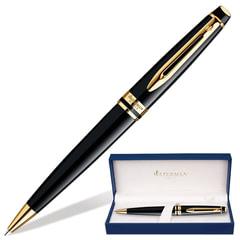 Ручка шариковая WATERMAN «Expert 3 Black GT», корпус черный, латунь, позолоченные детали, синяя, S0951700