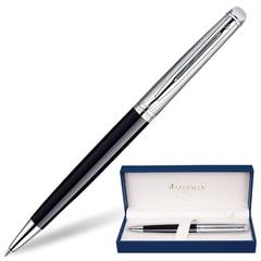 Ручка шариковая WATERMAN «Hemisphere Deluxe Black CT», корпус черный, латунь, палладиевое покрытие, синяя, S0921150