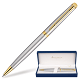 Ручка шариковая WATERMAN Hemisphere Stainless Steel GT, корпус латунь, позолоч. детали, S0920370,син