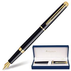 Ручка перьевая WATERMAN «Hemisphere Mars GT», корпус черный, латунь, позолоченные детали, синяя, S0920610