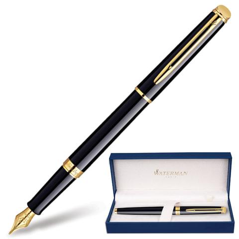 Ручка перьевая WATERMAN «Hemisphere Mars GT», корпус черный, латунь, позолоченные детали, S0920610, синяя