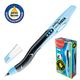 Ручка шариковая масляная MAPED (Франция) «Visio», корпус черно-синий, для левшей, 1 мм, синяя
