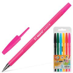 Ручки шариковые BEIFA (Бэйфа), набор 6 шт., «WMZ», узел 1,2 мм, линия 1 мм, ассорти