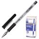 Ручка шариковая BEIFA (Бэйфа), корпус прозрачный, металлический наконечник, 0,7 мм, черная