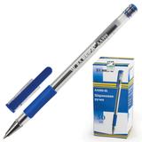 Ручка шариковая BEIFA (Бэйфа), корпус прозрачный, металлический наконечник, 0,7 мм, синяя
