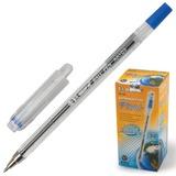 Ручка шариковая BEIFA (Бэйфа), корпус прозрачный, металлический наконечник, толщина письма 0,7 мм, синяя