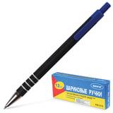 Ручка шариковая BEIFA (Бэйфа), автоматическая, корпус черный, металлический наконечник, толщина письма 0,7 мм, синяя
