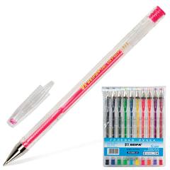 Ручки гелевые BEIFA (Бэйфа), набор 10 шт., узел 0,7 мм, линия 0,5 мм, ассорти