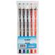 Ручки гелевые BEIFA (Бэйфа), набор 5 шт., корпус прозрачный, цветные детали, металлический наконечник 0,5 мм, подвес, ассорти