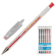 Ручки гелевые BEIFA (Бэйфа), набор 6 шт., корпус прозрачный, цветные детали, металлический наконечник, 0,5 мм, подвес, ассорти